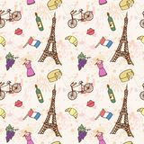 France Seamless pattern Royalty Free Stock Photos