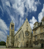 France, senlis, picardy, oise--- Saint Vincent Abbey Royalty Free Stock Photography