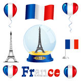 France set Royalty Free Stock Photos