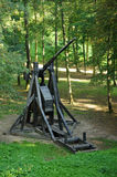 France, siege machine in the castle of Pierrefonds Stock Photos