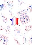 France sights and symbols - seamless Royalty Free Stock Photos