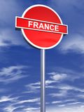 France sign traffic Royalty Free Stock Photo