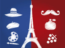 France silhouettes Royalty Free Stock Photos
