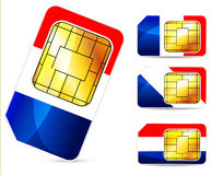 France sim card Stock Images