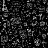 France sketch, seamless pattern for your design Stock Photos
