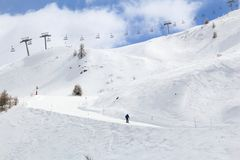 France ski piste Stock Photos