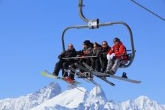 France skiing Stock Images