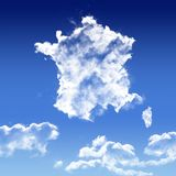 France Sky map icon in the blue sky Stock Photo
