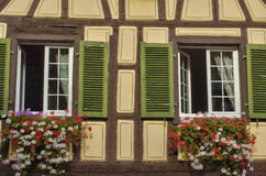 France,  small village of Kaysersberg in Alsace Stock Images
