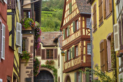 France,  small village of Kaysersberg in Alsace Royalty Free Stock Images