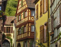 France,  small village of Kaysersberg in Alsace Royalty Free Stock Photos