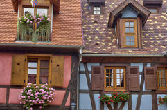 France,  small village of Kaysersberg in Alsace Royalty Free Stock Photo