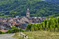 France, small village of Riquewihr in Alsace Stock Images
