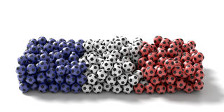 France soccer ball background, 3d rendering Stock Images