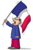 France soccer fan Stock Photography