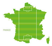France soccer field map Stock Image