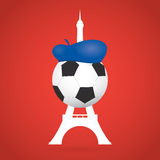 France Soccer / Football Background. Creative Vector Royalty Free Stock Images