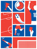 France Soccer / Football Background. Football Retro Poster. Stock Photography