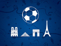 France Soccer / Football Background. Royalty Free Stock Photos