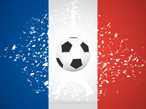 France Soccer / Football Background. Vector Illustration Royalty Free Stock Photography