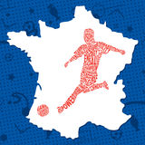France Soccer / Football Background. Vector Illustration Royalty Free Stock Images