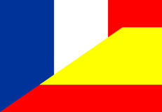 France spain flag Royalty Free Stock Images