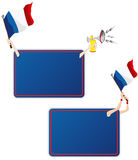 France Sport Message Frame with Flag. Vector - France Sport Message Frame with Flag. Set of Two Stock Photo