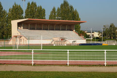 France, the stadium of Les Mureaux Royalty Free Stock Photography