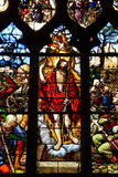 France, stained glass window in the Saint Martin church of Triel Stock Photos