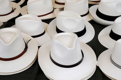 Stall of hats on the market Royalty Free Stock Photo