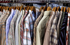 Stall of shirt in a shop in Paris Royalty Free Stock Photos