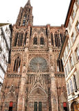 France Strasbourg cathedral. Front view Royalty Free Stock Images