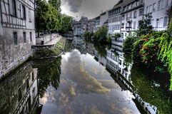 France Strasbourg water channel HDR Royalty Free Stock Image