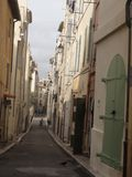 France - Street in Marseille, capitale of the Bouches du Rhone. Seen by a Street in Marseille, French city in the South of France. Marseille, capitale of the Stock Photos