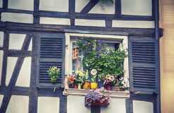 France summer window Stock Photo