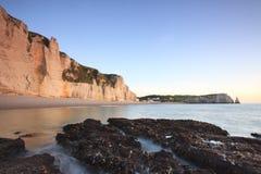 Free France ,Sunrise Over Etretat, Normandy Stock Images - 36217914