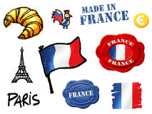 France symbols Royalty Free Stock Image
