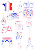 france synr symboler vektor illustrationer