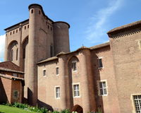 France, Tarn, Albi, Palais de la Berbie. In France, Albi city is registered on the heritage of UNESCO,the Berbie Palace shelters the Toulouse Lautrec museum Royalty Free Stock Photo