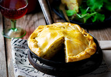 France tart with potato and bacon Stock Images