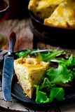 France tart with potato and bacon Stock Photography