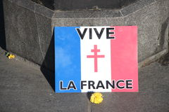 France , terrorist attacks, new york city vigil,sign Stock Photo