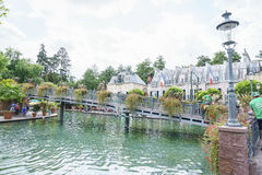 France themed area - Europa Park in Rust, Germany Royalty Free Stock Photography