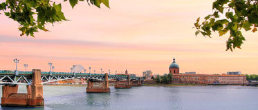 France - Toulouse. Nice view in the city of Toulouse in France stock photos