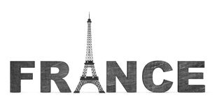 France Tourism Concept. France Sign with Eiffel Tower Royalty Free Stock Image