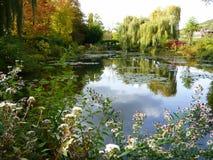 france trädgårds- giverny monet s Arkivfoto