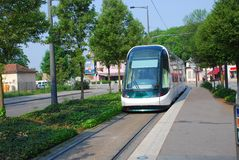 France, tram in the street. The cities of Strasbourg Royalty Free Stock Image