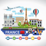 France travel dreams destination, France travel symbols, Symbols of France, landmark. Royalty Free Stock Image