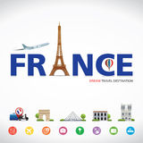 France travel dreams destination, France travel symbols, Symbols of France, landmark. Royalty Free Stock Photography