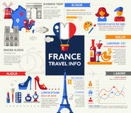 France Travel Info - poster, brochure cover template Royalty Free Stock Images